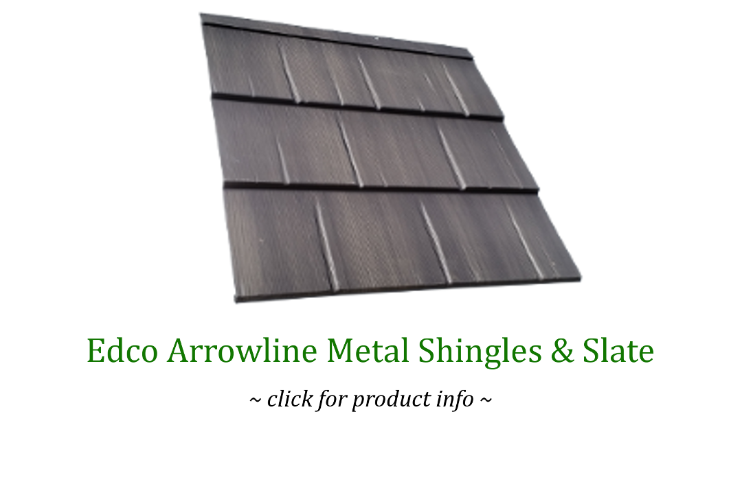 edco arrowline metal slate and shingles